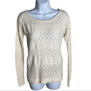 DKNY Jeans Cream Sweater Size S